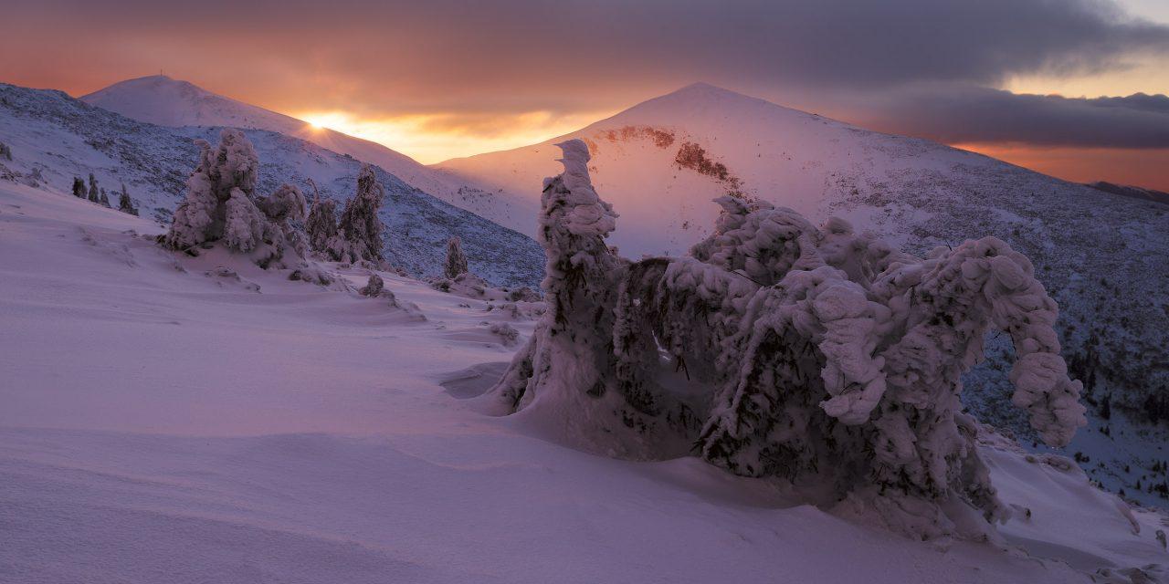 Зима на горі Барвінок