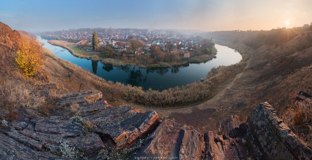 Панорама Скель МОДРу (МОПРу), м. Кривий Ріг
