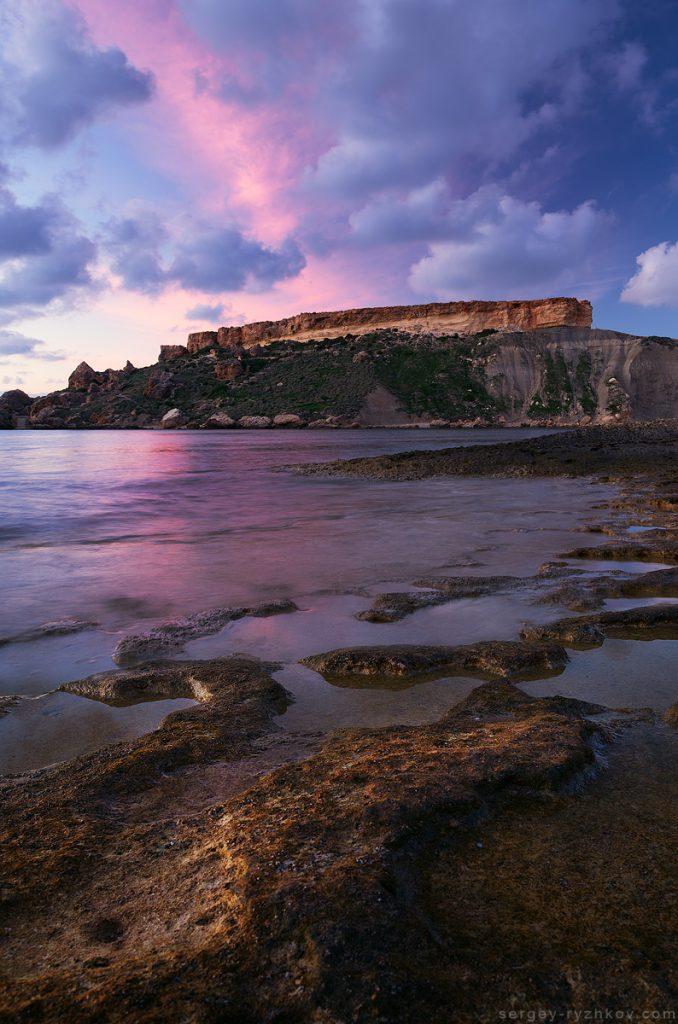 Сутінки на морському узбережжі