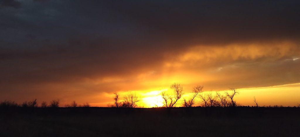 Захід сонця на Кінбурнській косі