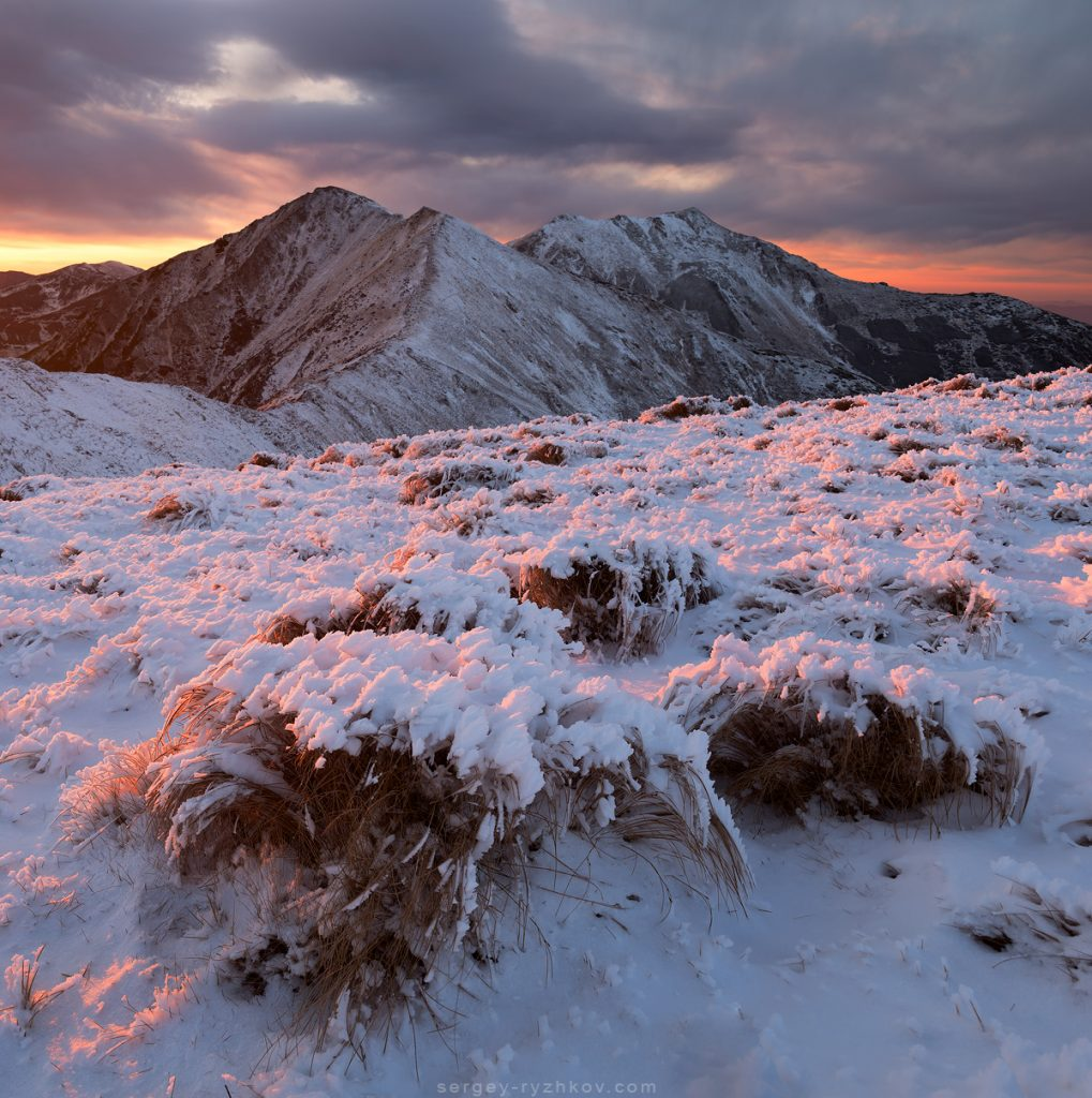 Sunset in Rodna Mountains National Park. Romania