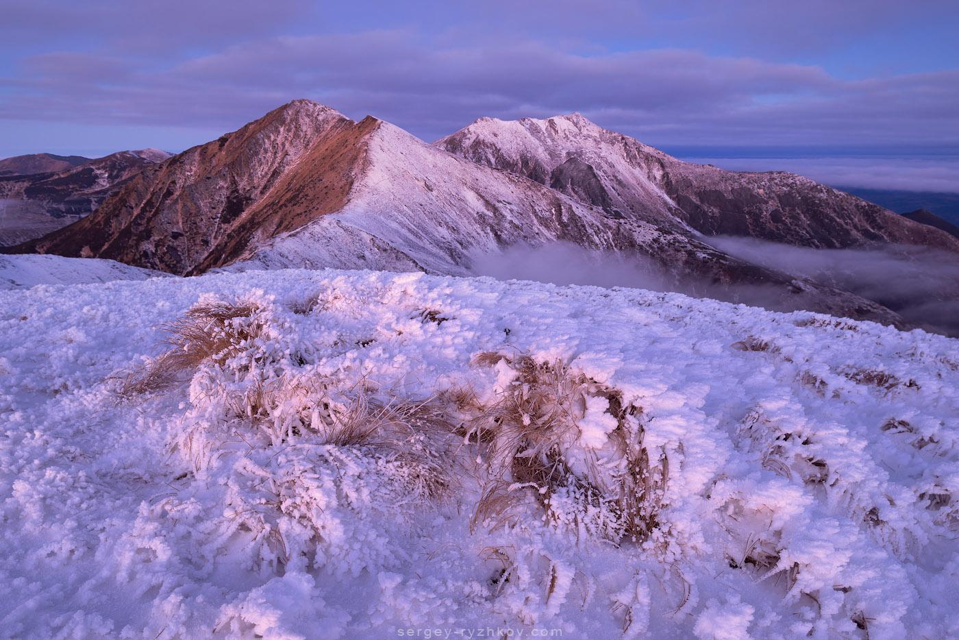 Перший сніг в Роднянських горах
