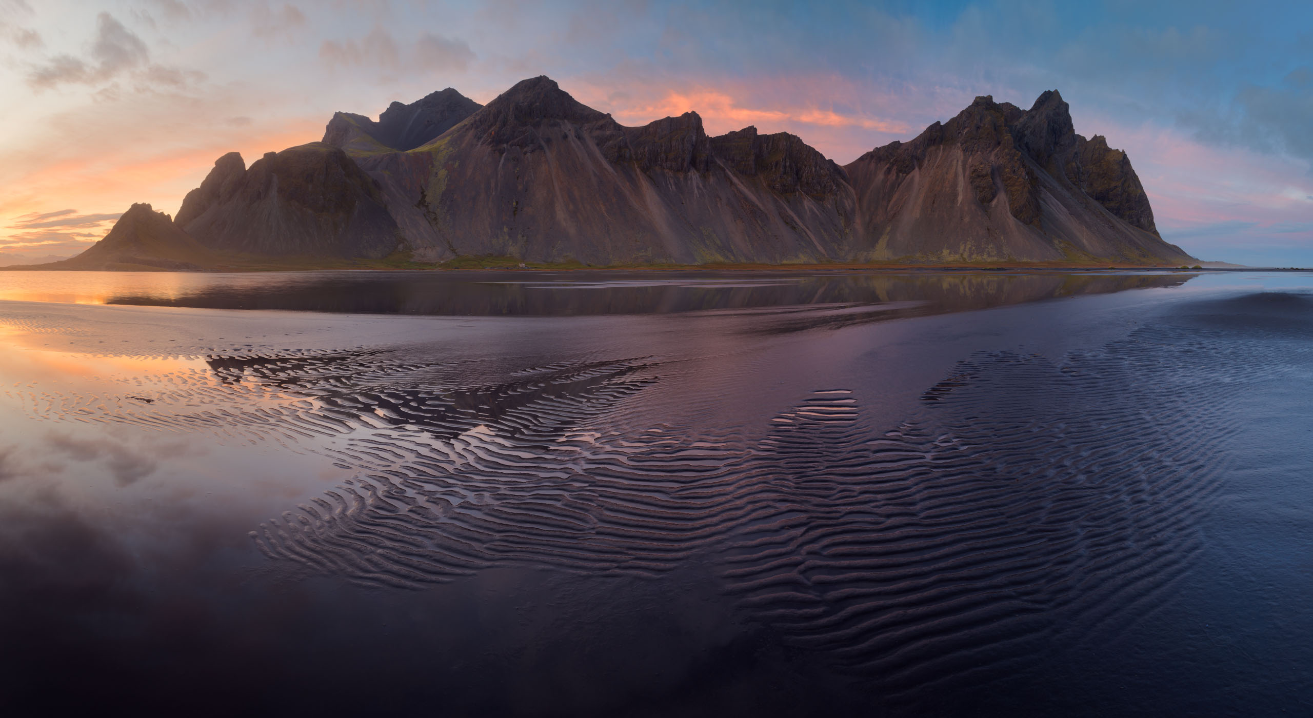 Panorama of Vestrahorn Mount, Iceland