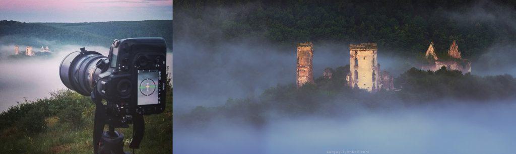 Процес зйомки Червоногородскього замку