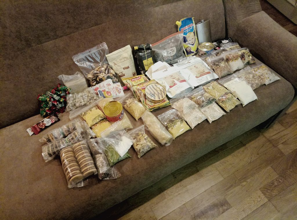 Розкладка їжі на 12 дінв