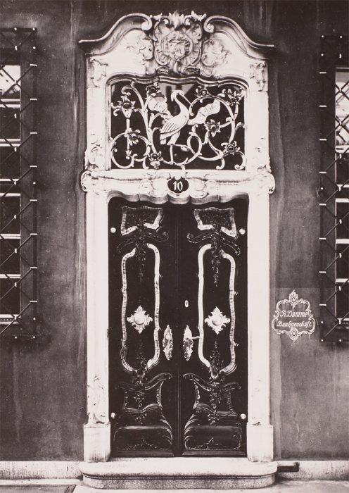 Old photo of Gdansk - door