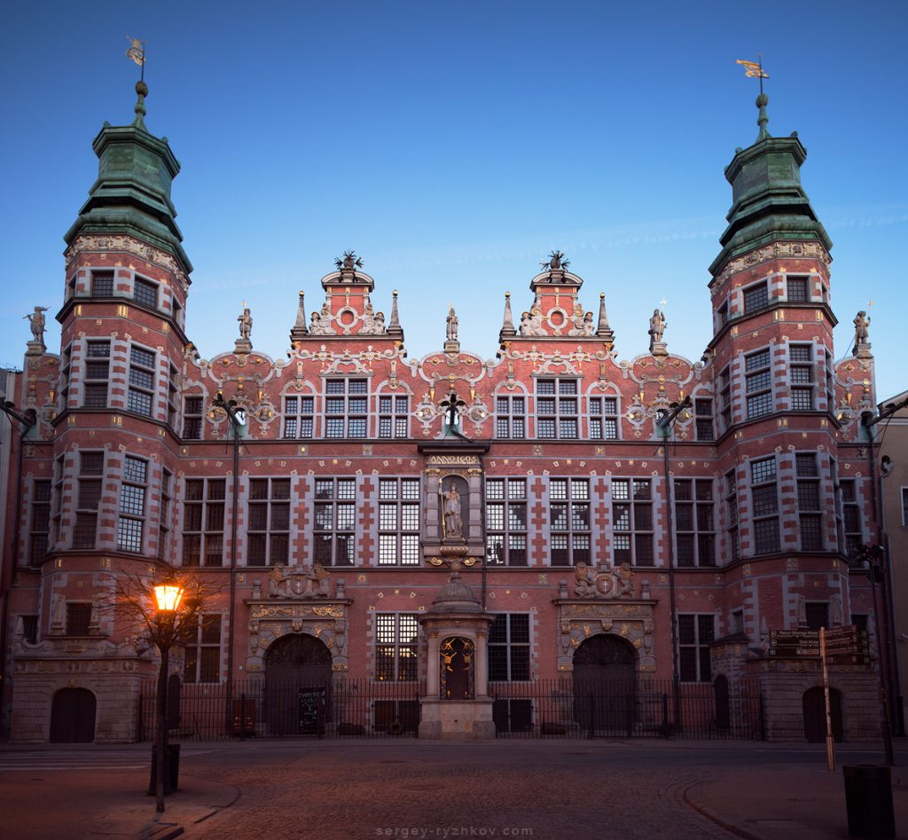 Facade of Great Armory. Gdansk, Poland. 2 March 2019