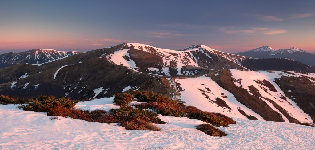 Polonyna Krasna ridge, Ukraine.