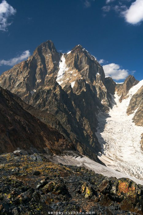 Ushba mountain in Georgia, Caucasus