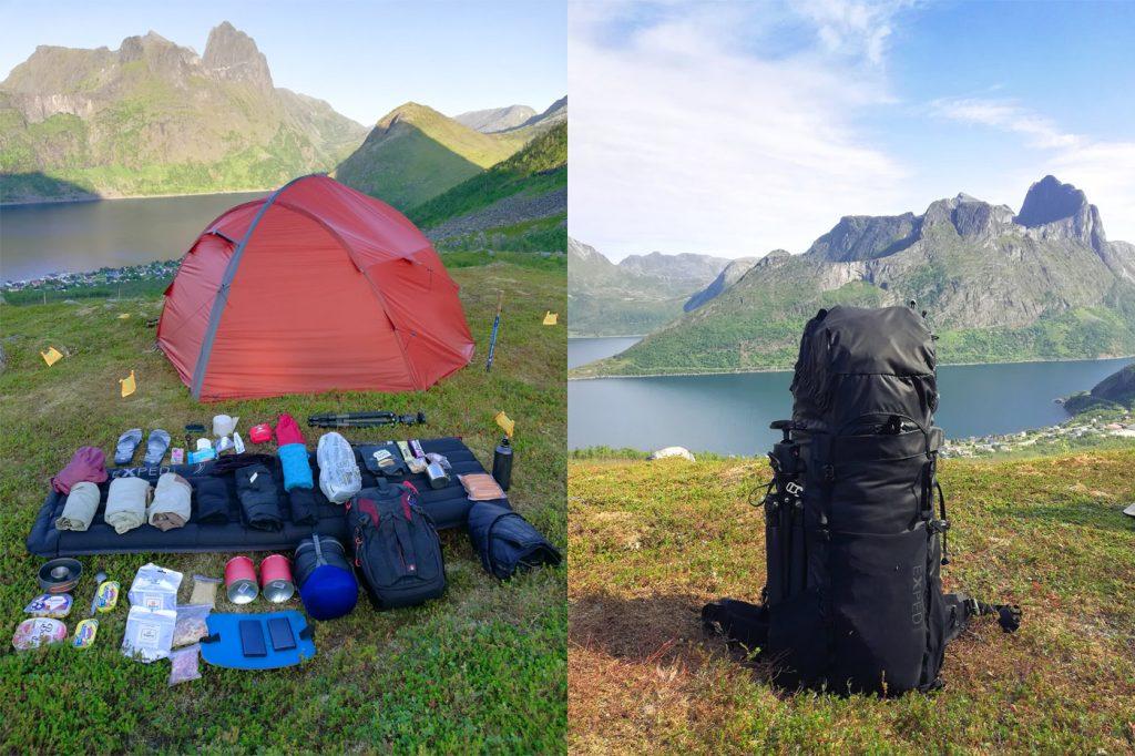 Речі для походу в гори та наплічник Exped Thunder 70