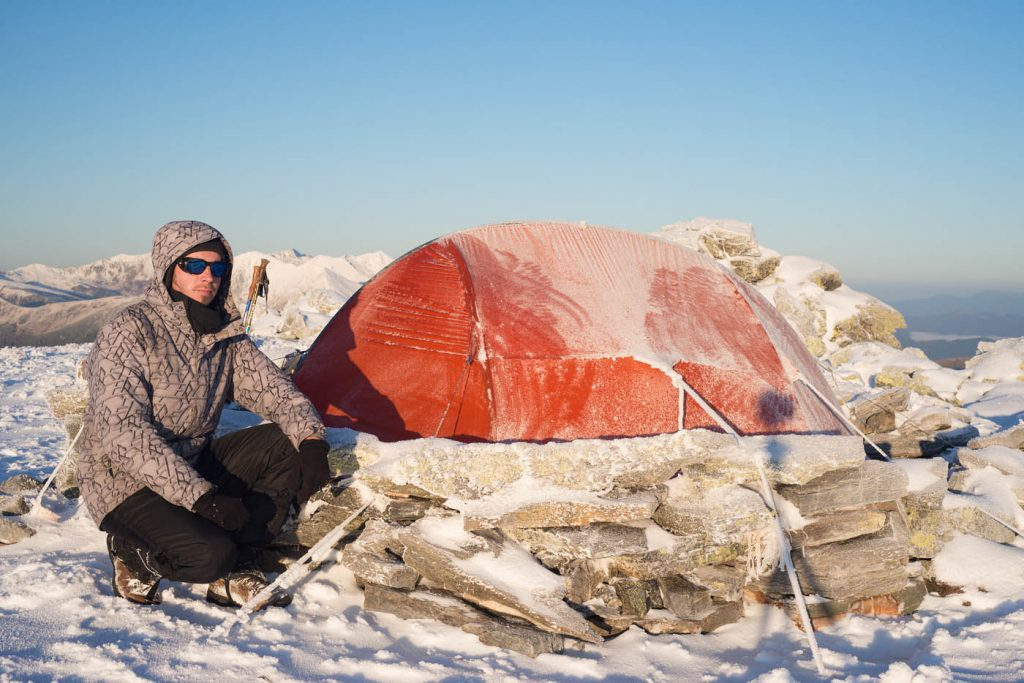 Tent Exped Orion II in winter