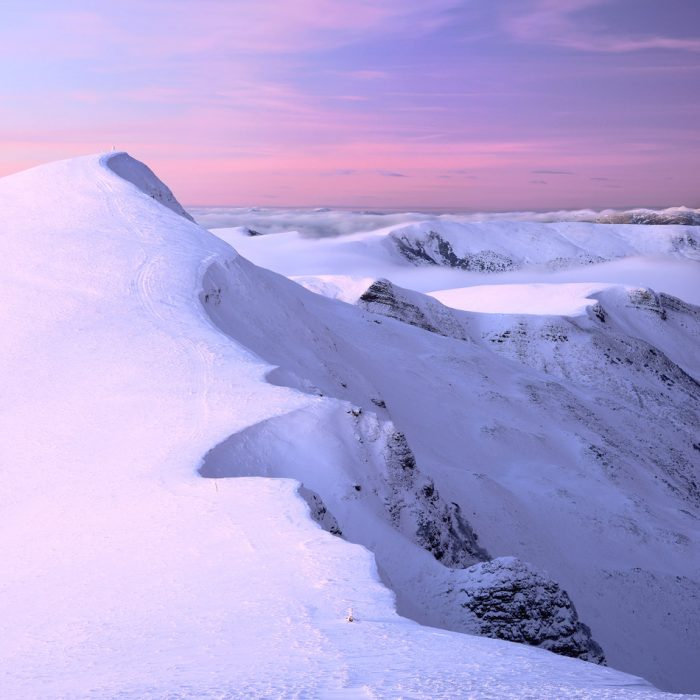 Гора Велика Близниця зимою