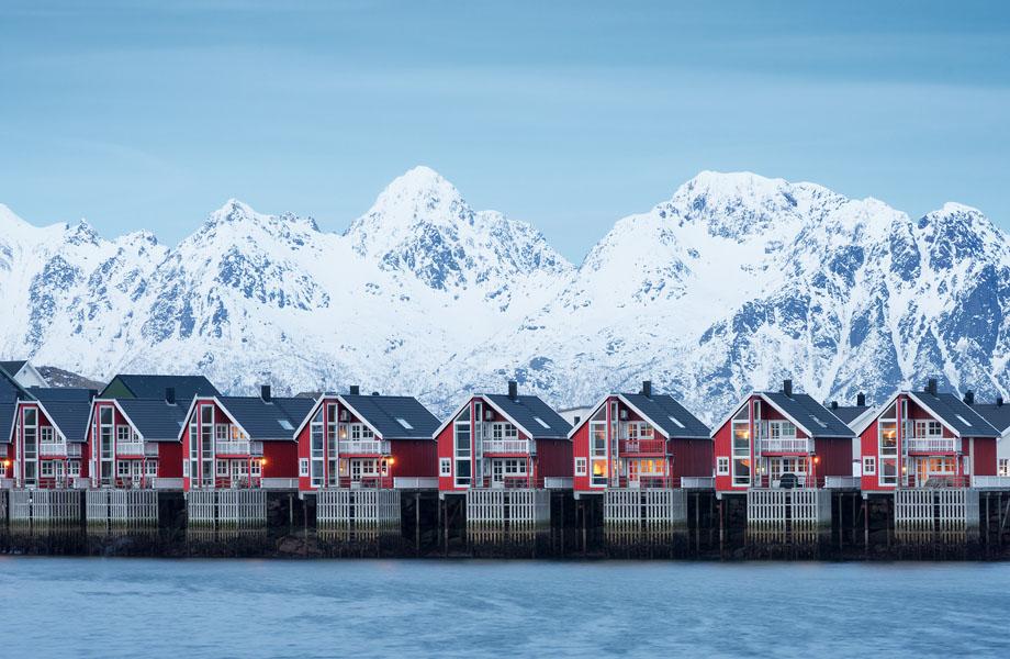 Свольвер зимаю. Норвегія, Лофотени