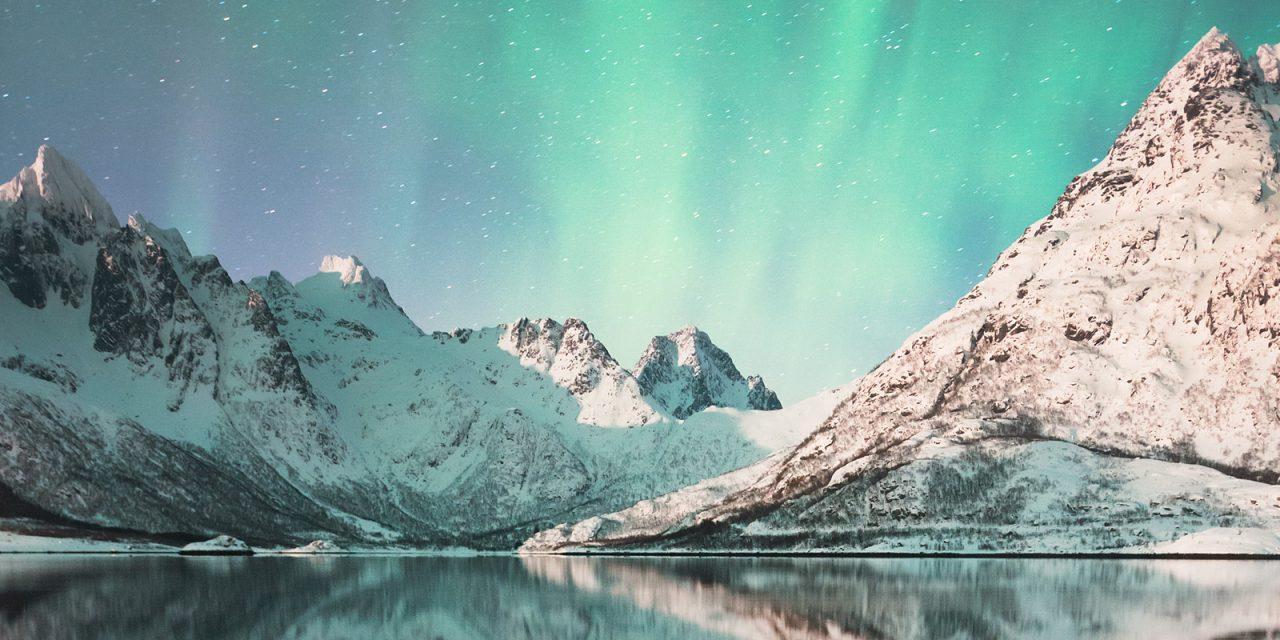 Аврора над Austnesfjorden, Lofoten