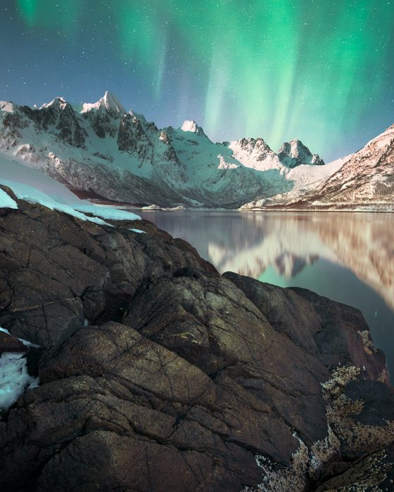 Aurora Borealis in Lofoten Islands