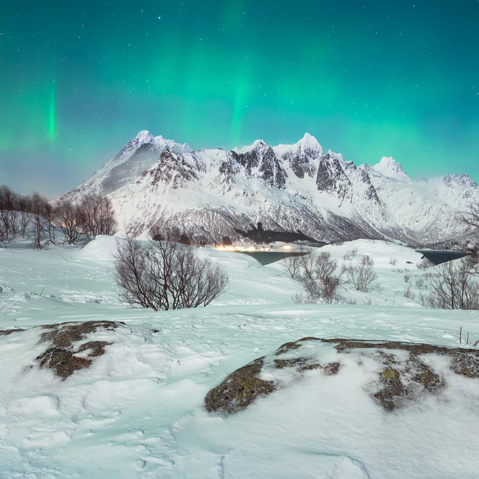 Austnesfjorden in winter